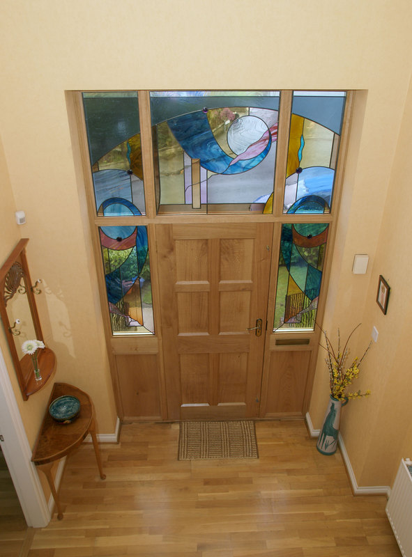 Abstract door surround window