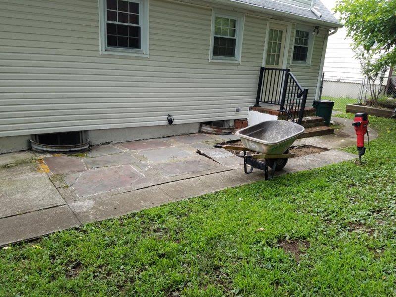Backyard Patio and Walkway