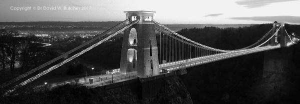 Bristol Clifton Suspension Bridge at Night, England