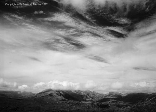 Scafell Range from Harter Fell, Boot, Lake District