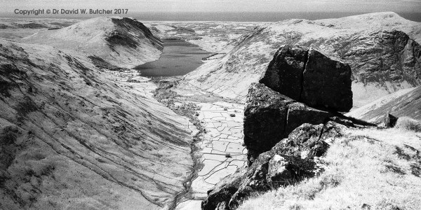Wasdale from Great Gable, Infrared, Lake District