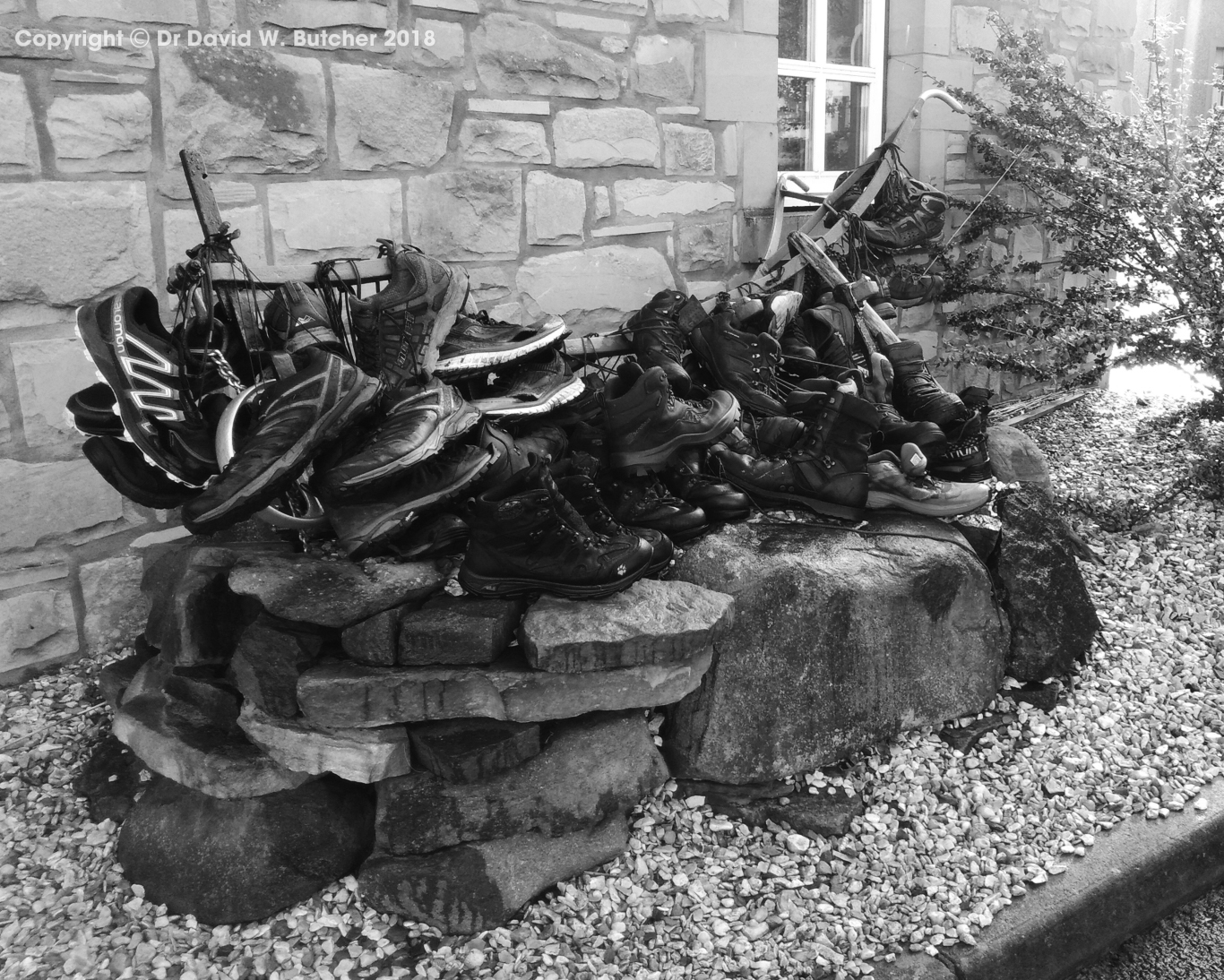 Kirk Yetholm Border Hotel Pennine Way Boot Sculpture