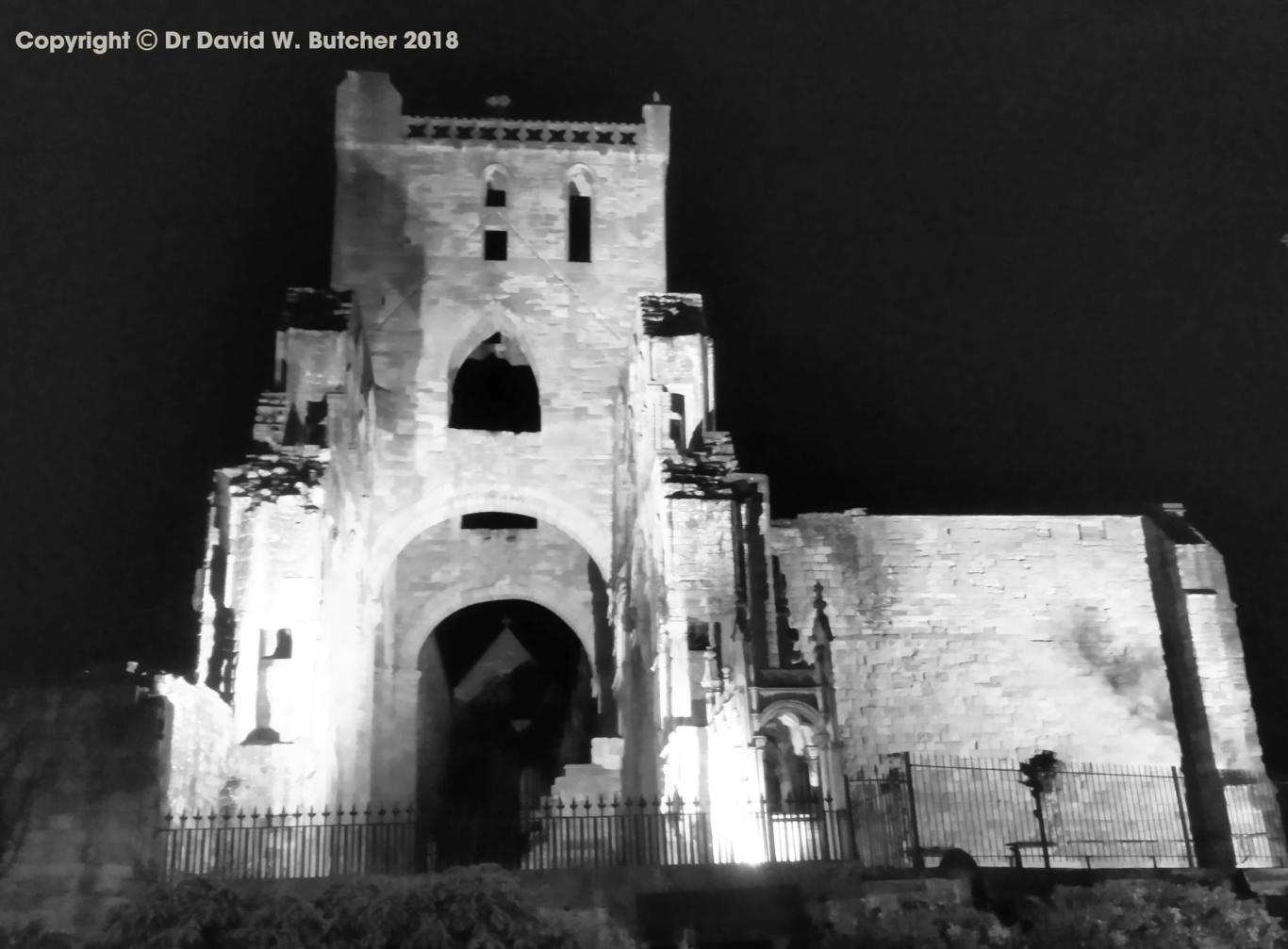 Jedburgh Abbey at Night