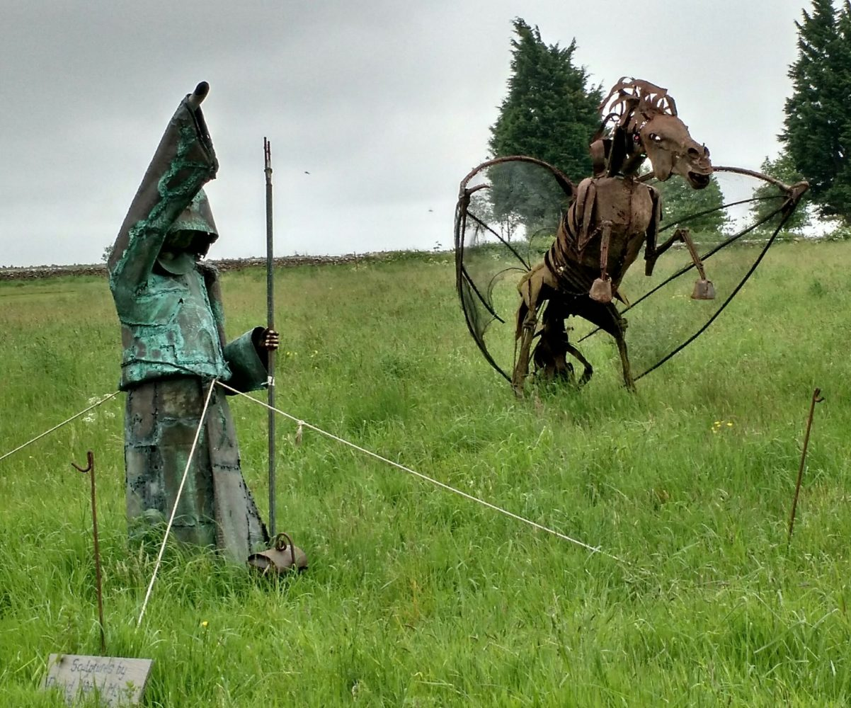 Metal Fantasy Sculptures on Lansdown Hill, Cotswolds