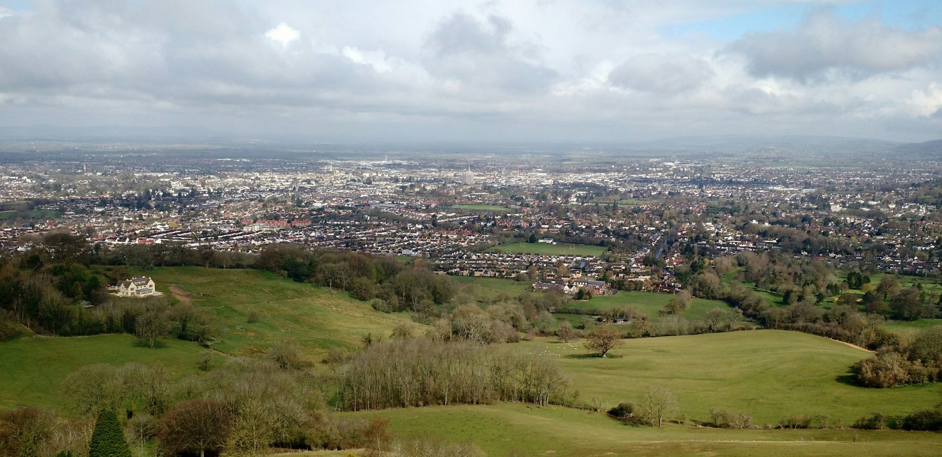 Cheltenham from Cotswold Way