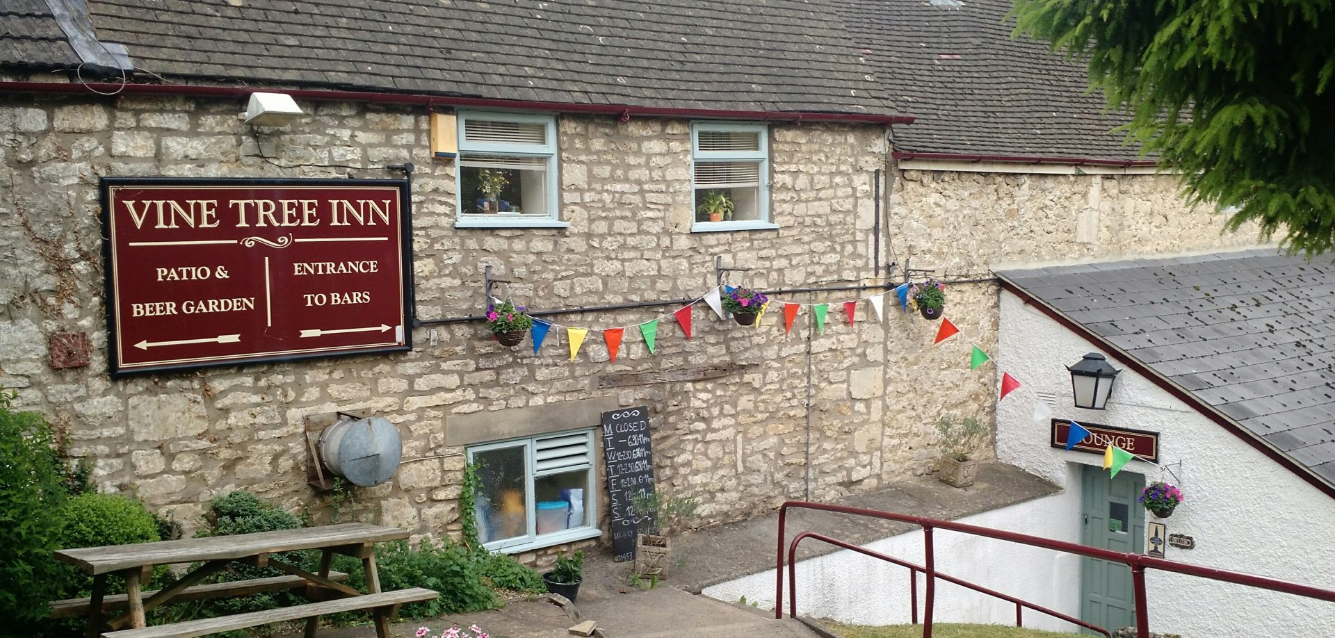 The Vine Tree Inn in Randwick, the end of the Cotswold Way for us