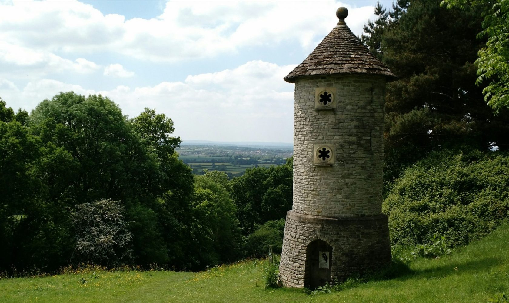 Modern folly built for Swallows and Owls to nest in, Horton hill fort, Cotswolds