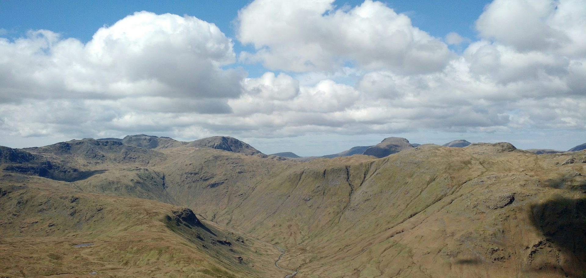 Scafell and Great Gable from High Raise, Langdales
