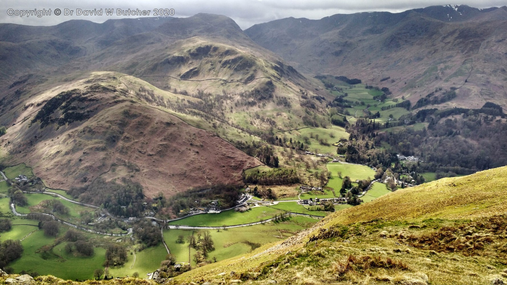 Patterdale from near Place Fell, Lake District