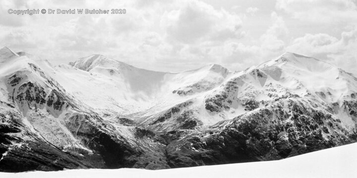 Mamores from Aonach Beag, Fort William, Scotland