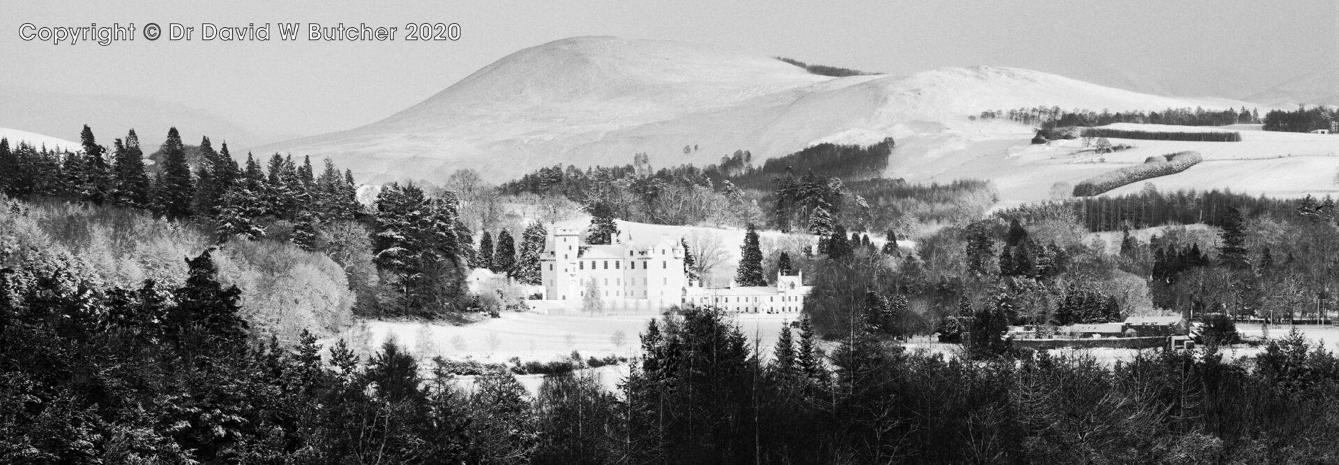 Blair Atholl Castle and Munro's, Perthshire, Scotland