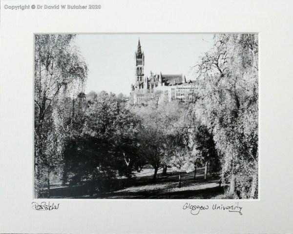 Scotland Glasgow University from Kelvingrove Park