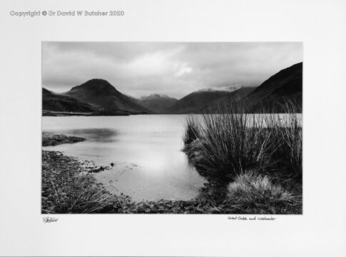 England, Lake District Great Gable and Wast Water