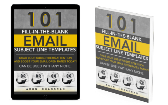 Fill in the blank email templates