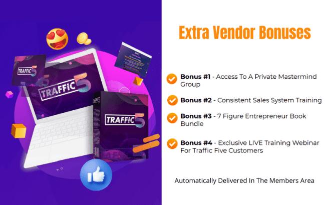 Traffic Five Review - Vendor Bonuses