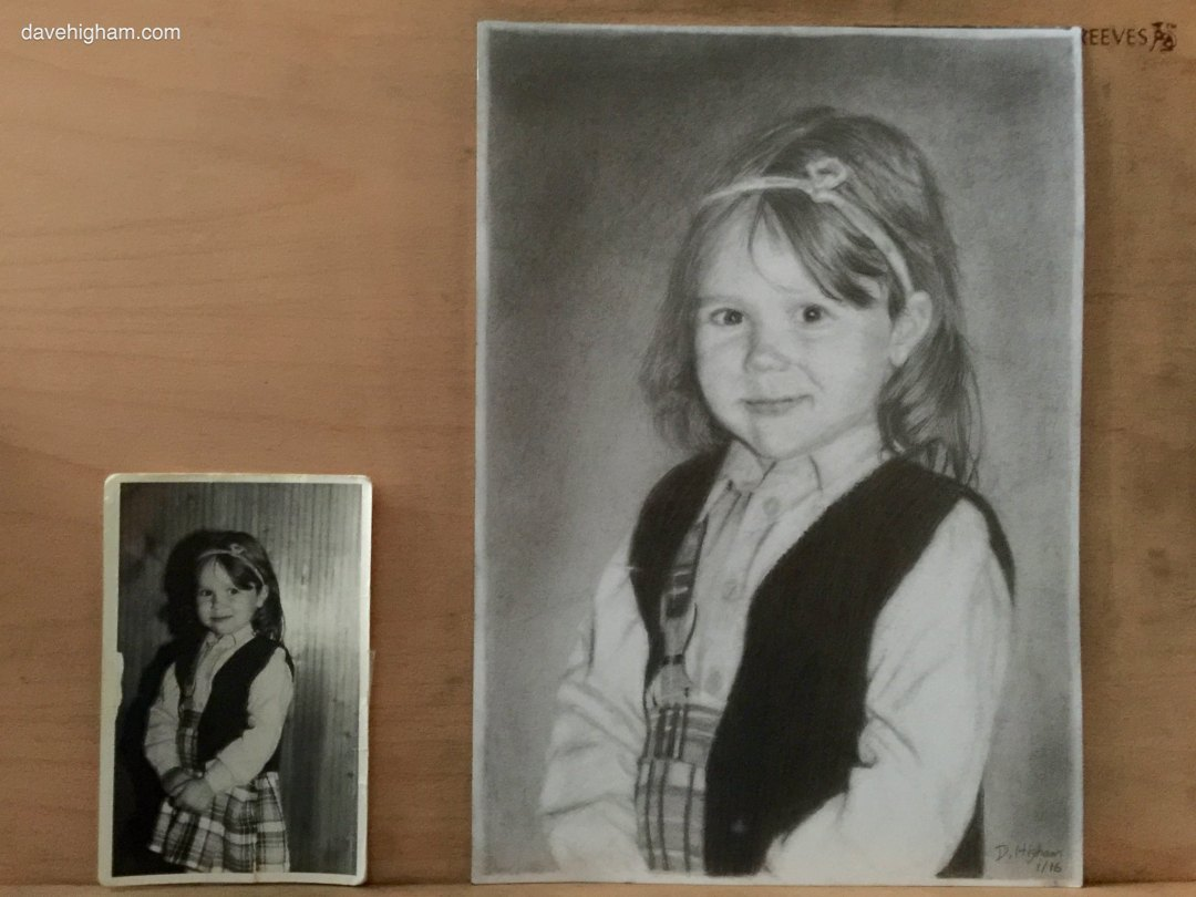 Photograph and finished drawing