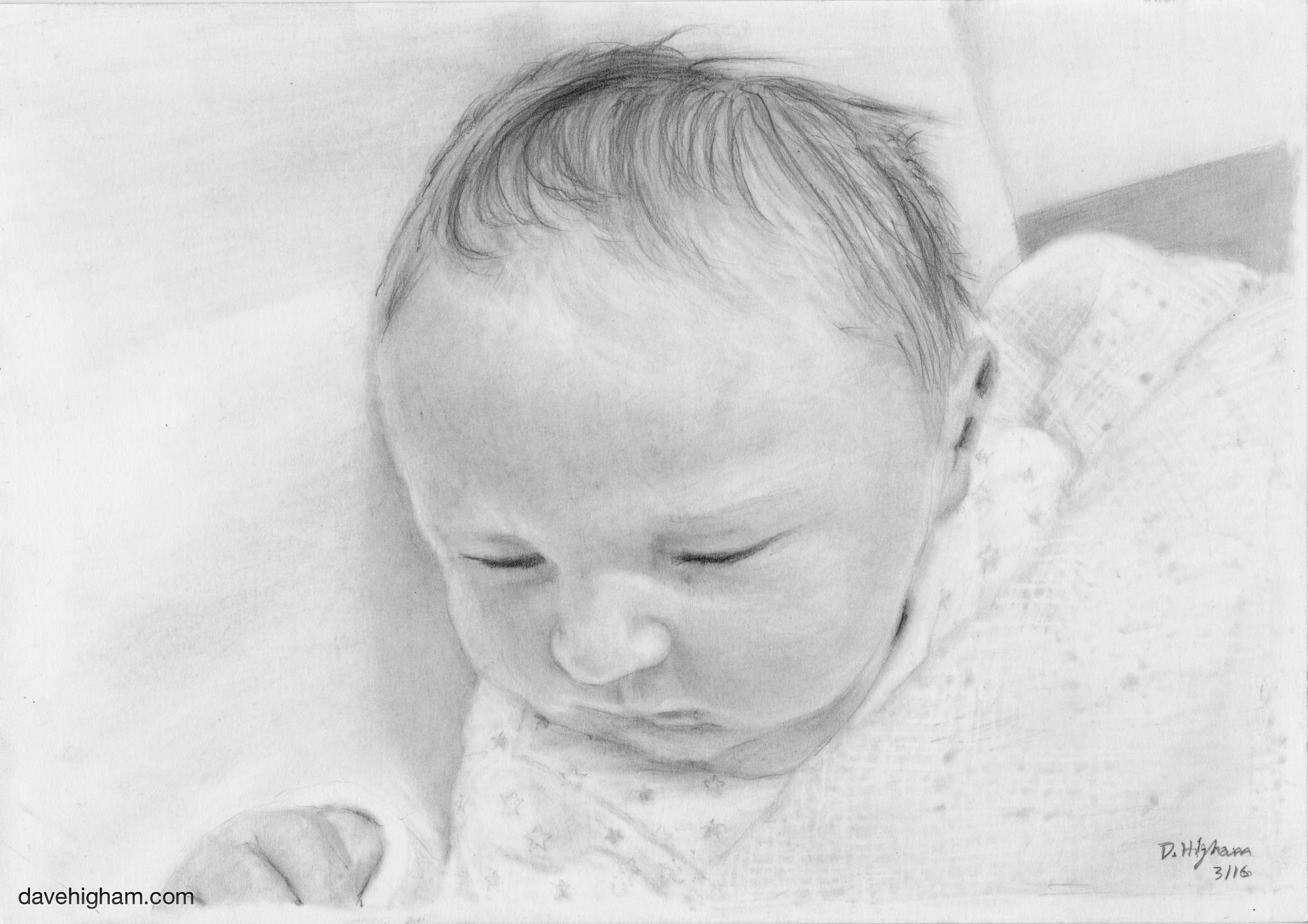 A portrait of a baby