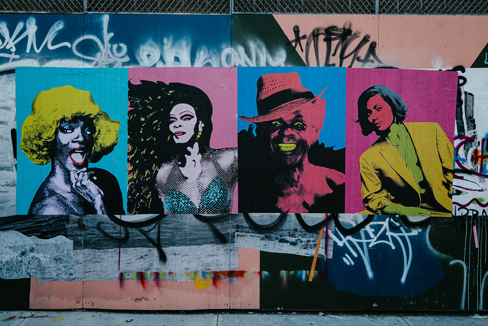 Pop Art posters in Bushwick, NYC