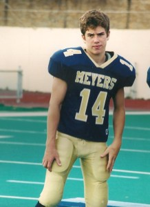 Scott, our middle son, played football well enough to start as quarterback in Wilkes-Barre, Pa.