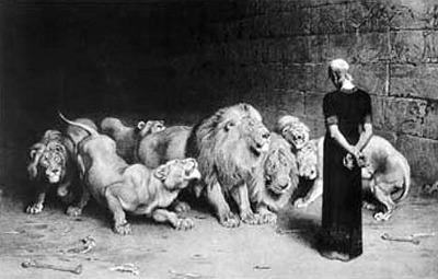 Prophet Daniel in the lion's den