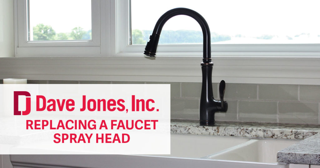 replacing a kitchen faucet spray head