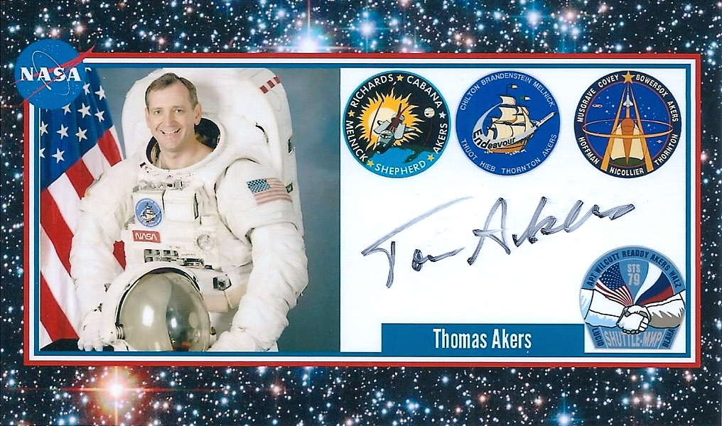 Signed Photo Card by Tom Akers - Received TTM 11/19/2016