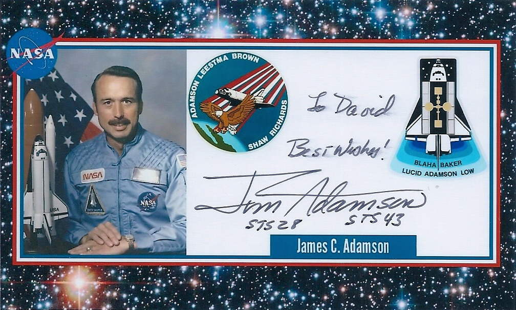 Signed Photocard of James C. Adamson,