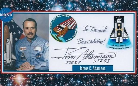 Signed Photocard of James C. Adamson,