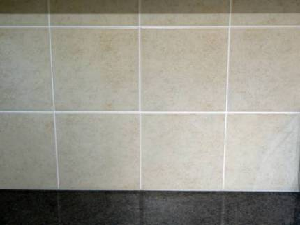Tiles grouted, cleaned and buffed up