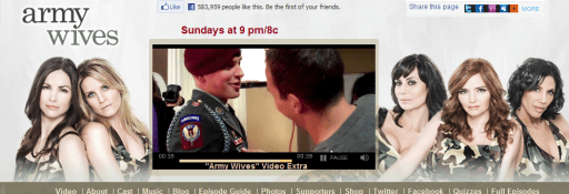 army wives web capture