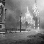 burning church in finland