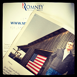 mitt romney mail campaign
