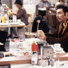 Seinfeld cast in Monk's Cafe