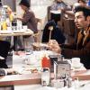 Seinfeld cast in Monk's Cafe
