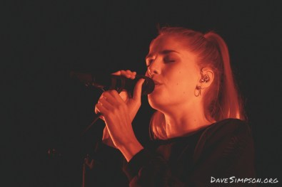Musician Hannah Reid of London Grammar performs at Spark Arena on September 30, 2017 in Auckland, New Zealand