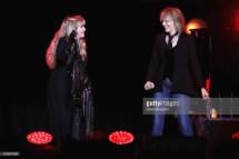 AUCKLAND, NEW ZEALAND - NOVEMBER 21: Singers Stevie Nicks and Chrissie Hynde perform on stage during Stevie Nicks' 24 Karat Gold Tour at Spark Arena on November 21, 2017 in Auckland, New Zealand. (Photo by Dave Simpson/WireImage)