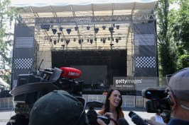 New Zealand Prime Minister Jacinda Ardern at Laneway Music Festival
