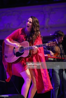 AUCKLAND, NEW ZEALAND - AUGUST 04: Milly Tabak and Chris Marshall of The Miltones perform on stage supporting Tami Neilson at Auckland Town Hall on August 4, 2018 in Auckland, New Zealand. (Photo by Dave Simpson/WireImage)