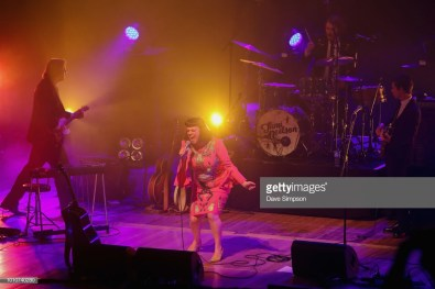 AUCKLAND, NEW ZEALAND - AUGUST 04: Neil Watson, Tami Neilson, Joe McCallum and Mike Hall perform as part of the Sassafrass! NZ Tour at Auckland Town Hall on August 4, 2018 in Auckland, New Zealand. (Photo by Dave Simpson/WireImage)