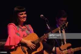 AUCKLAND, NEW ZEALAND - AUGUST 04: Tami Neilson and Mike Hall perform as part of the Sassafrass! NZ Tour at Auckland Town Hall on August 4, 2018 in Auckland, New Zealand. (Photo by Dave Simpson/WireImage)