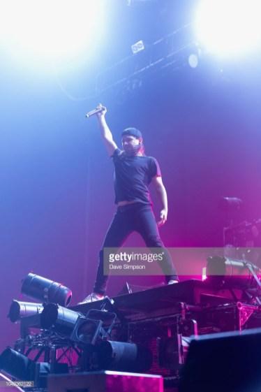 AUCKLAND, NEW ZEALAND - SEPTEMBER 28: Skrillex performs during Listen In at Spark Arena on September 28, 2018 in Auckland, New Zealand. (Photo by Dave Simpson/WireImage)