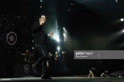 AUCKLAND, NEW ZEALAND - OCTOBER 16: Brendon Urie of Panic! At The Disco performs during the Pray For The Wicked Tour at Spark Arena on October 16, 2018 in Auckland, New Zealand. (Photo by Dave Simpson/WireImage)