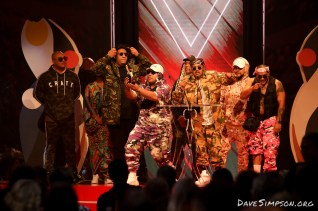 AUCKLAND, NEW ZEALAND - NOVEMBER 15: SWIDTreceive the award for The Best Hip Hop Artist at the 2018 Vodafone New Zealand Music Awards at Spark Arena on November 15, 2018 in Auckland, New Zealand. (Photo by Dave Simpson/WireImage)