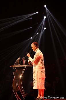 AUCKLAND, NEW ZEALAND - NOVEMBER 15: Eve de Castro Robinson received her award for Best Classical Artist at the 2018 Vodafone New Zealand Music Awards at Spark Arena on November 15, 2018 in Auckland, New Zealand. (Photo by Dave Simpson/WireImage)