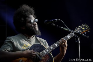 AUCKLAND, NEW ZEALAND - JANUARY 12: Michael Kiwanuka performs on stage as part of Mumford & Sons' The Gentlemen of the Road tour at The Outer Fields at Western Springs on January 12, 2019 in Auckland, New Zealand. (Photo by Dave Simpson/WireImage)