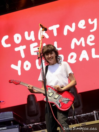 AUCKLAND, NEW ZEALAND - JANUARY 28: Courtney Barnett performs on stage at St Jerome's Laneway Festival on January 28, 2019 in Auckland, New Zealand. (Photo by Dave Simpson/WireImage)