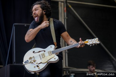 AUCKLAND, NEW ZEALAND - JANUARY 28: Dave Le'aupepe of Gang Of Youths performs on stage at St Jerome's Laneway Festival on January 28, 2019 in Auckland, New Zealand. (Photo by Dave Simpson/WireImage)