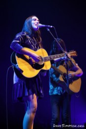 AUCKLAND, NEW ZEALAND - MARCH 07: Milly Tabak and Dylan Storey of The Milltones perform on stage opening for Bryan Ferry at Spark Arena on March 7, 2019 in Auckland, New Zealand. (Photo by Dave Simpson/WireImage)