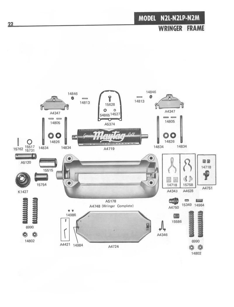 Diy Washer Repair Maytag Diagram Parts List For Model Mtw5840tw0 Maytagparts Washerparts N2 Manual Page