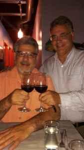 Dave DeSimone and Sam Patti at the Calabria wine dinner